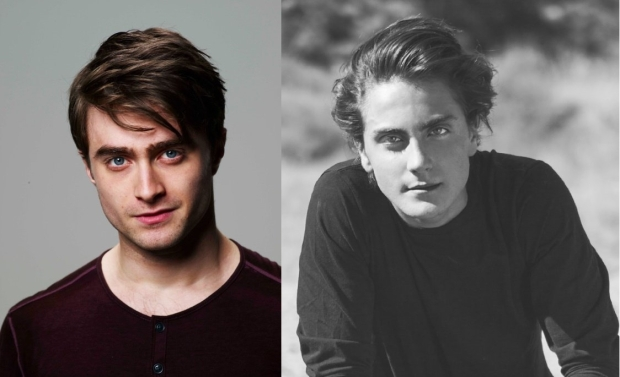 Daniel Radcliffe (left) and Noah Silver (right) without glasses. Images from IMDB.