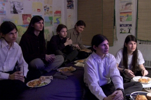 Still from the movie The Wolfpack